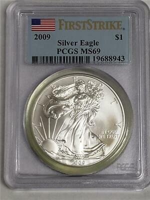 2009 Silver American Eagle MS69 PCGS US Mint $1 Coin