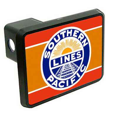 Southern Pacific Railroad Sunset Logo Train Trailer Hitch Cover