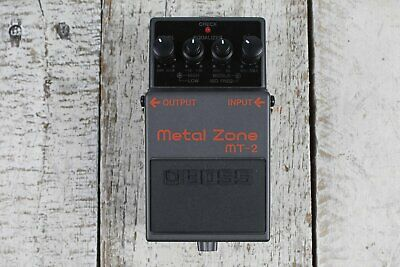 Boss MT-2 Metal Zone Distortion Electric Guitar Effects Pedal with FREE Cables