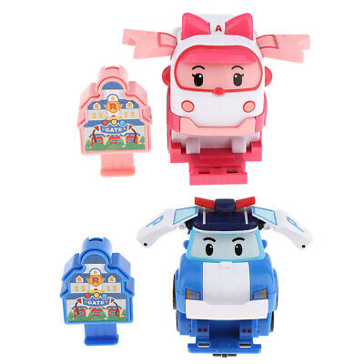 TV Animation Super Wings Transforming Plane Large Robot Figure Character Toy