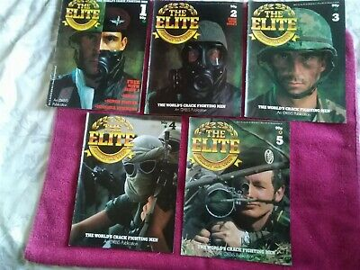 the elite magazine's No 1 to No 5 with Additional stickers 1985