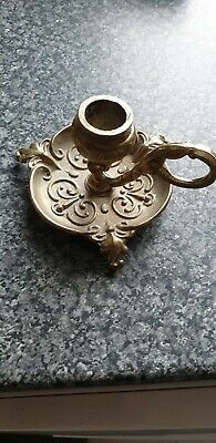 Vintage Icelandic Solid Brass Wee Willie Winkie Candle Holder Very Rare