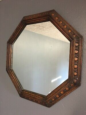 Quality Antique Carved Oak Mirror Wall Hanging Mirror
