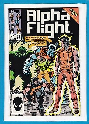 Alpha Flight #28_Nov 1985_Very Fine_Secret Wars Ii_Incredible Hulk_Beyonder!