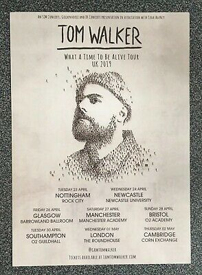 Tom Walker What A Time To Be Alive 2019 : A5 UK Tour Promo Flyer - BRIT Winner