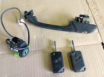 Range Rover P38 Drivers Door Lock / Handle With Two Keys And Ignition