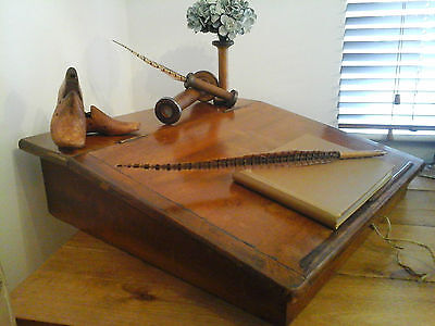 Antique Victorian 1900's Oak Writing Slope /Stationary Bureau /Storage Box /Desk