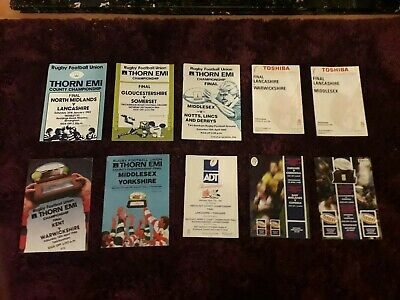 10x 1982-1999-COUNTY CHAMPIONSHIP FINAL RUGBY UNION-PROGRAMMES-COLLECTION-BULK