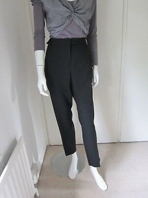 BNWT NEXT Ladies grey herringbone tapered taper leg smart work office trousers