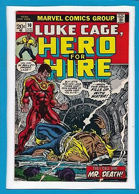 """Luke Cage, Hero For Hire #10_June 1973_Very Good+_""""they Call Him Mr. Death""""!"""