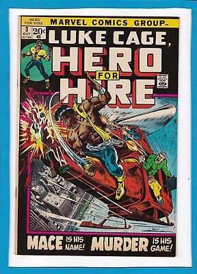 """Luke Cage, Hero For Hire #3_October 1972_Very Fine_""""mace Is His Name""""!"""