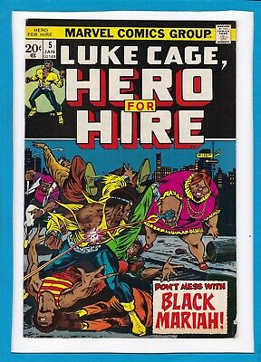 LUKE CAGE, HERO FOR HIRE #5_JANUARY 1973_VERY GOOD+_1st APPEARANCE BLACK MARIAH!
