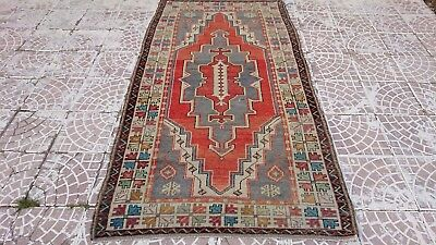 81 X 139cm Code 391 The Latest Fashion Faded Color Vintage Oushak Rug Turkish Rug 2.7 X 4.6 Ft