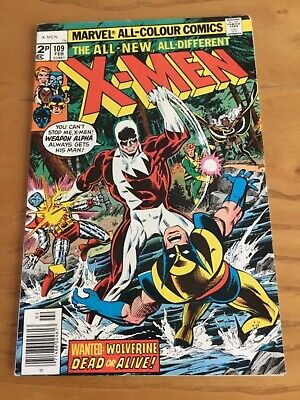 Uncanny X-Men #109 Feb 1978 Early New X-Men 1St App Weapon Alpha/vindicator