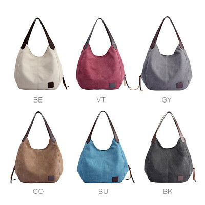Women's Canvas Handbag Single Shoulder Bag Messenger Hobo Tote Satchels Shopping