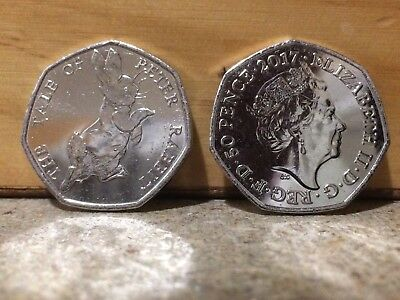The Tale of Peter Rabbit 50p Coin, 2017 VERY RARE, Collectable Item
