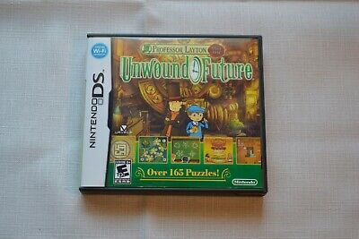 Nintendo DS Game Professor Layton and the Unwound Future cartridge case booklet
