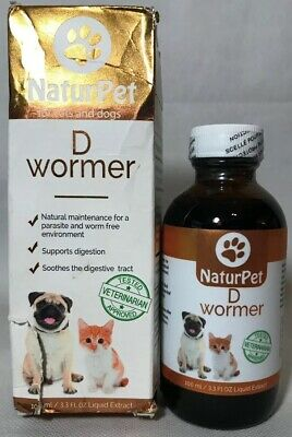 Naturpet D Wormer 100% Natural Dewormer Dogs and Cat 100ml *Read Description
