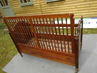 Antique Vintage English  Cot Small child's  bed