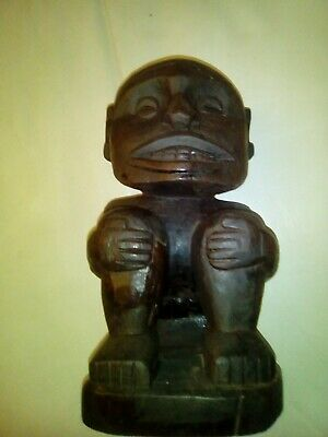 carved wooden statue sculpture art collectable ornament Easter Island Polynesia