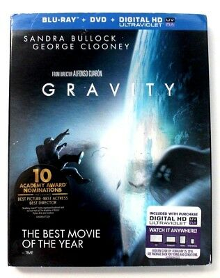 Gravity BluRay DVD Digital HD Ultraviolet 2013 preowned Untested
