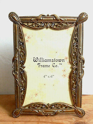 Aesthetic Movement Style Bronzed Metal & Jewelled Photo / Picture Frame