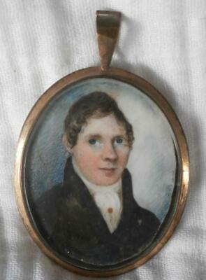 WELL PAINTED GEORGIAN PERIOD PORTRAIT MINIATURE of a YOUNG GENTLEMAN