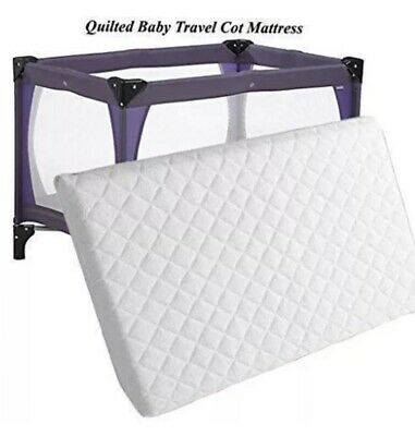New Extra Thick Travel Cot Mattress For Grace Redkite And M&P 95 x 65 x 7.5 cm