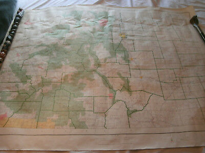 "1973 US Dept of Interior Geological Survey topographic Map Colorado-54x42""-F/Sh"