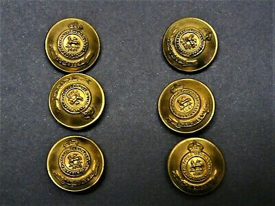 ROYAL WEST SURREY REGIMENT THE QUEENS  6 x 19mm BRASS BUTTONS WITH 1661 1902-09
