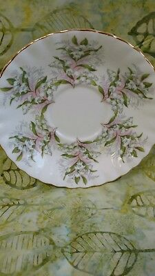 Royal Albert China Saucer- Summertime Series- Lily of the Valley