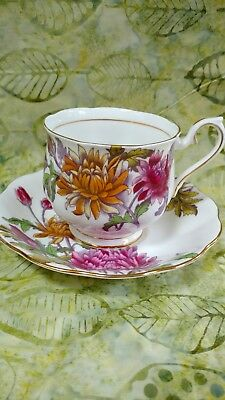 Royal Albert China Cup and Saucer Flower of the Month- Chrysanthemum