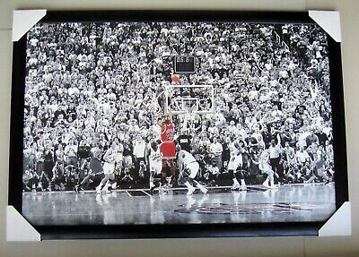 "Michael Jordan Framed Poster ""last Shot"" Nba Basketball Chicago Bulls"