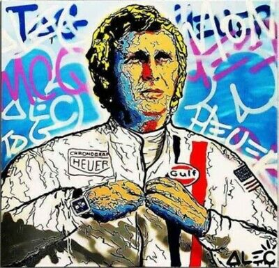 Alec Monopoly Steve Mc Queen Handmade Oil Painting on Canvas art Decor 24x24inch