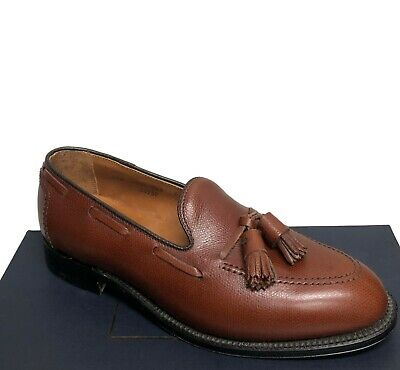 c52fd971d64f2 Alden for Brooks Brothers Brown Grained New Tassel Loafers Size 7.5 10    10.5
