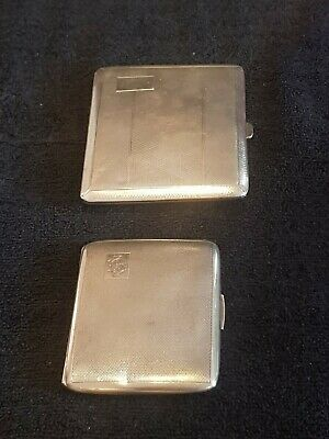 Antique Solid Silver Cigarettes Cases X 2 1937/38 Lady's & Gentlemen's Pair.