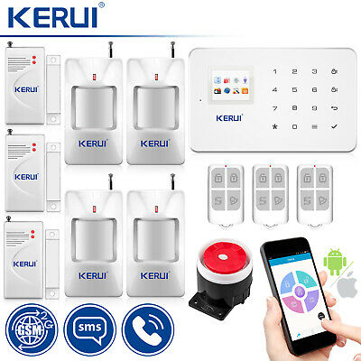 Kerui G18 GSM SMS Wireless  Android IOS APP Home Burglar Security Alarm System