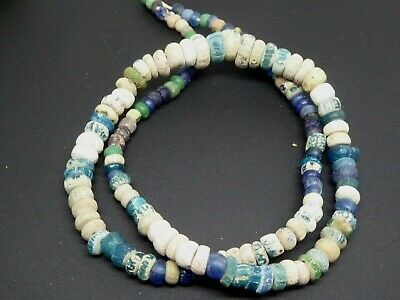 Ancient Mixed Excavated Glass From Djenne Mali Africa 1200-1600 Std. Beads