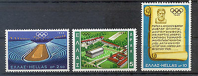 Greece 1968 Olympic Games Mexico, 1054-1056(3), Vl, Mnh
