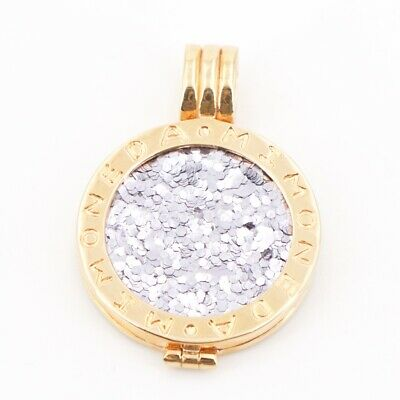 MI MONEDA PEN-03 Rose Gold Plated .925 Sterling Silver Coin Holder Pendant Small