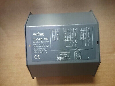 VECTOR TLC-R5-230 Fan Coil Controller 230V 8VA Contact Rating:240Vac 28Vdc