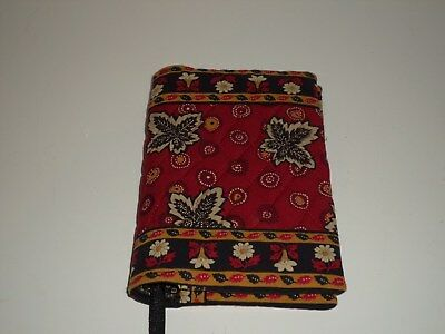 Vera Bradley Red Coin Leaf Book Cover Very Nice