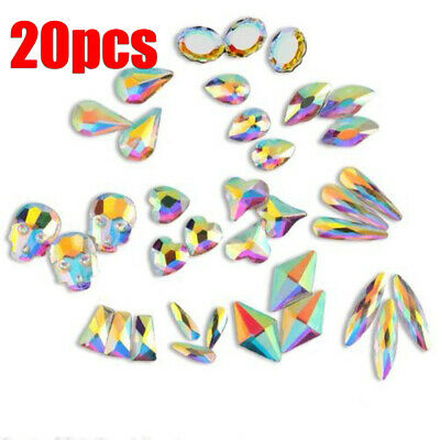 Decoration Crystal Jewelry 3D Flowers Star Nail Art Rhinestones Flat Mix Gems