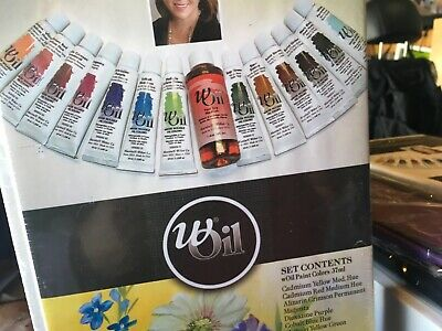 Weber Set Woil 12 Water Mixable Oil Colors With Linseed Oil