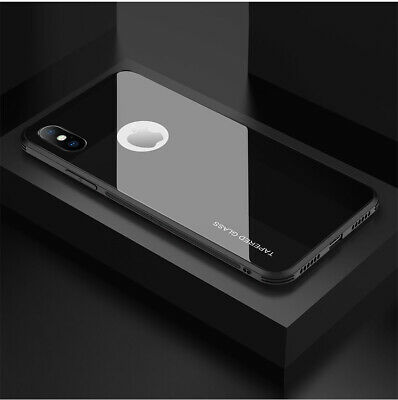 For Apple iPhone X XS MAX XR 7 8 Plus Shockproof Case Cover Hybrid Toughen Glass