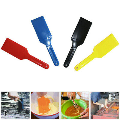 4 Pieces Practical Plastic Spatulas Ink Scoop Screen Printing Shovel 270x70mm
