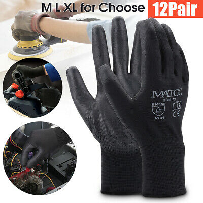 12 Pais Safety Work Gloves PU Nitrile Foam Hand Protection General Purpose AU