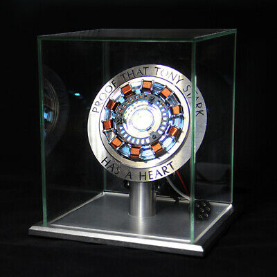 Avenger Master Grade Iron Man MK1 MK2 Arc Reactor USB Remote Display Metal Stand