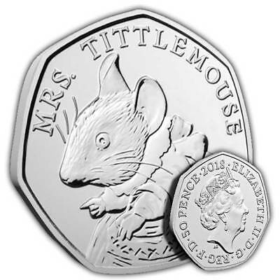 Mrs. Tittlemouse, 2018 Beatrix Potter 50P Very Collectable BUNC Fifty Pence Coin