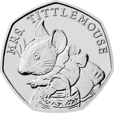 Mrs.Tittlemouse &The Tailor Of Gloucester Beatrix Potter 50P Fifty Pence Coins